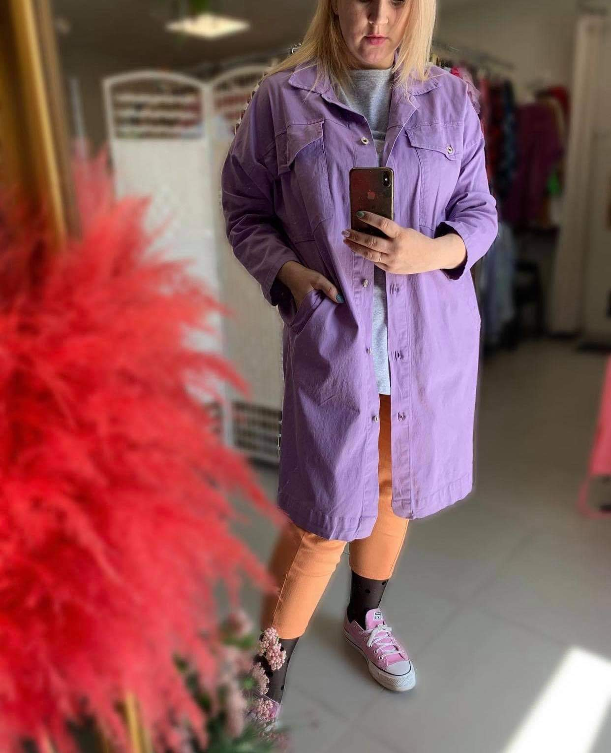 Džinsinis paltas švarkas